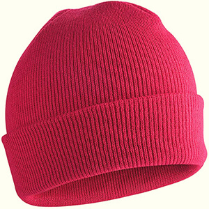 Rose-pink fisherman girl's skateboard beanie