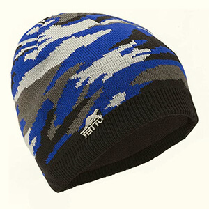 Royal blue waterproof camo beanie