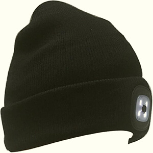 Black Led light skater beanie