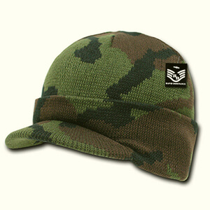 Camouflage beanie with bill