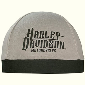 Gray Harley-Davidson skull cap beanie with a big script