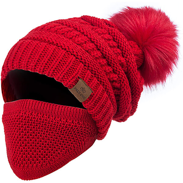 Slouchy Beanie with Mask