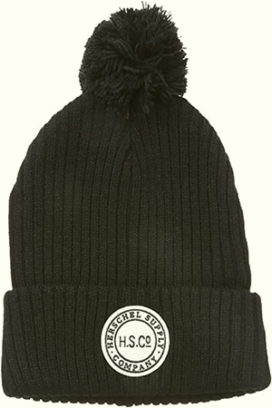 Slouchy winter Herschel Elmer beanie with circle-shaped logo
