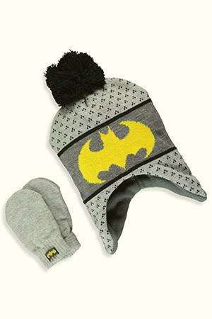 Batman winter cap for baby boy with pom pom