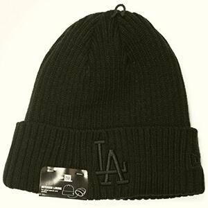 Classic black knit Dodgers beanie