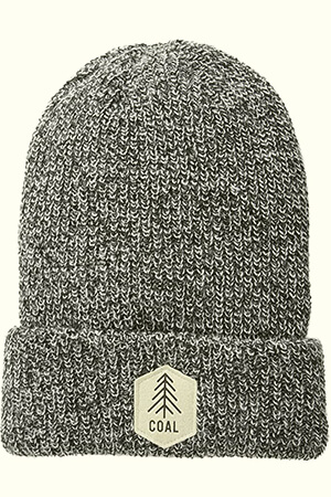 Old school camp suede patch Coal beanie