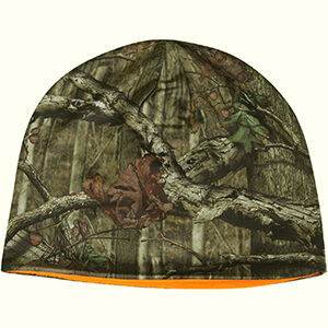 Reversible real tree with branches and leaves camo beanie