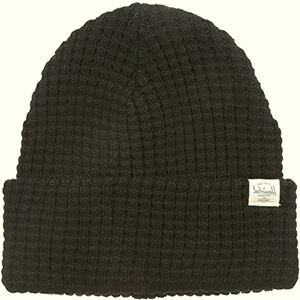 Waffle knit Herschel beanie with a little tag