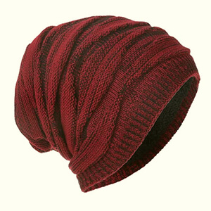 Winter men's slouchy beanie extra-warm model