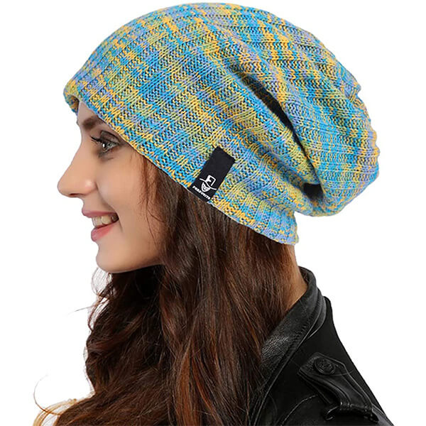 Women's Loose Style Multi-colored Baggy Beanie