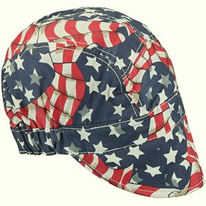American flag welding beanie cap