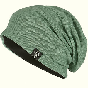 Light green lightweight beanie for summer