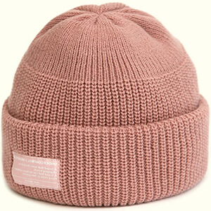 Light pink fisherman girl's skateboard beanie