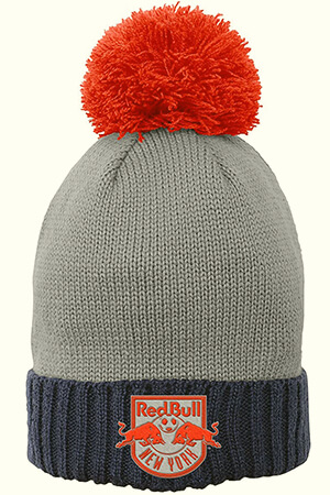 Red Bull beanie with oversized pom