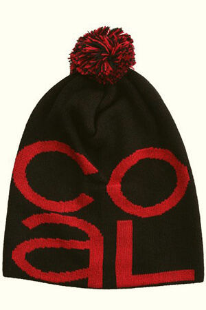 Black Coal beanie with huge red Coal script