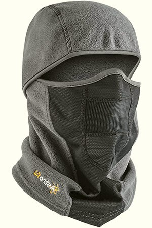 Gray breathable balaclava face mask