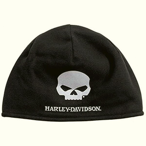 Willie G skull warm fleece Harley-Davidson beanie