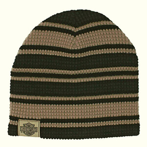 Black and brown striped Harley-Davidson beanie