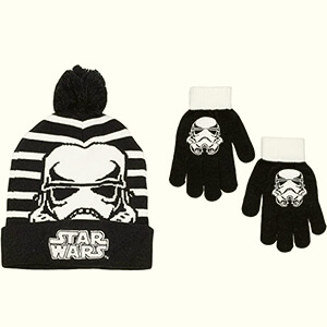 Black-white Stormtrooper Star Wars beanie for kids