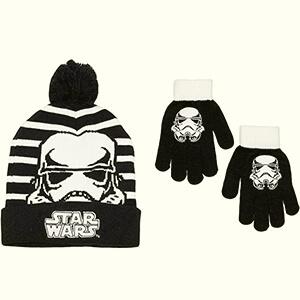 Black-white Stormtrooper Star Wars beanie for kids