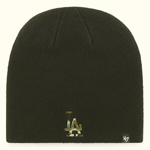 Camofill black Dodgers beanie