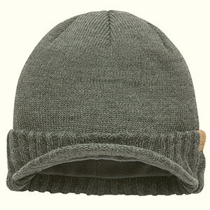 Classic Coal Yukon brim beanie with cuff