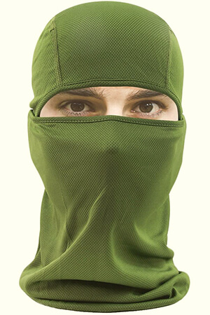 Green UV protection balaclava mask