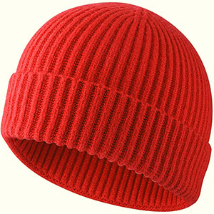 Red fisherman skater beanie
