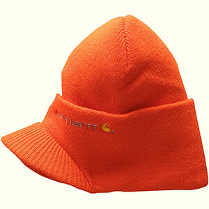 Brite orange Carhartt billed beanie