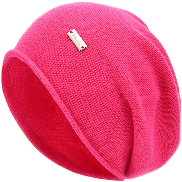 Cashmere Slouchy Beanie Hat for Women