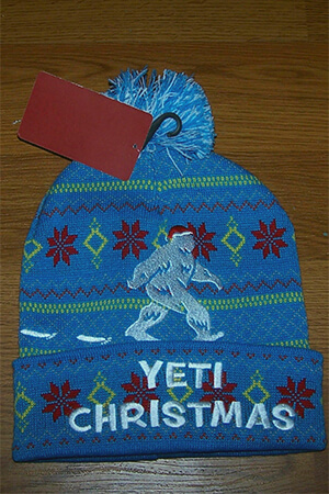 Christmas themed Yeti beanie