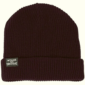 Dark purple skater beanie with the folded part