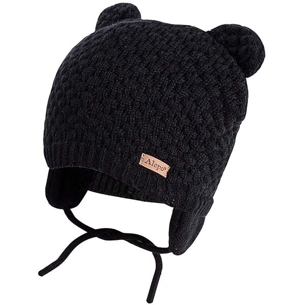 Earflap Bear Ears Baby Boys Beanie Hat