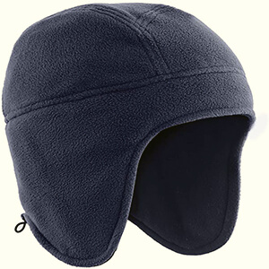Fleece beanie with earflaps