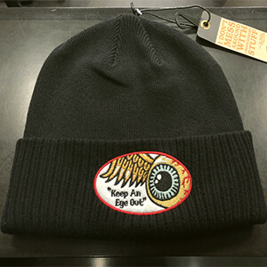 Flying Eyeball logo Von Dutch black beanie