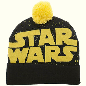 Navy blue Star Wars beanie with pom pom