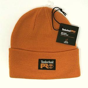 Orange Timberland Pro beanie