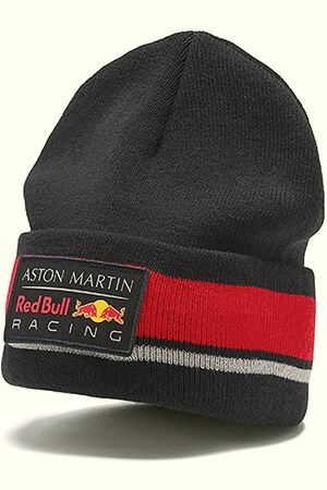 Red and gray stripe Red Bull Racing beanie