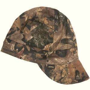 Camouflage brown-black welding beanie