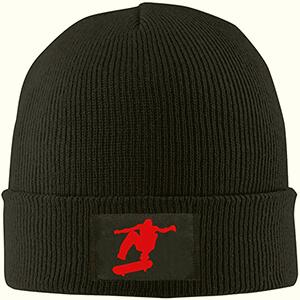 Casual black skater beanie