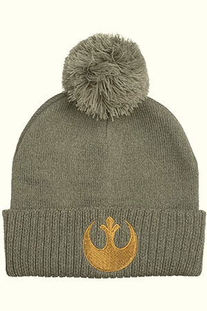 Gray Star Wars beanie with Rebel symbol