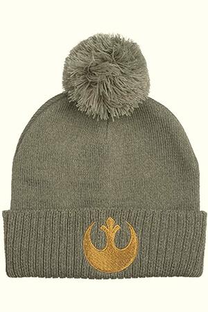 Gray Star Wars beanie with Rebel symbol