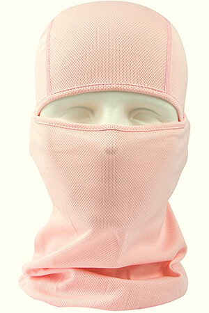 Light pink balaclava face mask