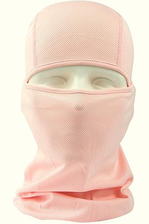 Light pink balaclava face mask