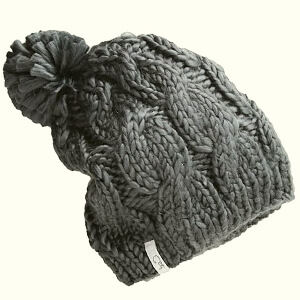 Silky fabric Coal beanie for women
