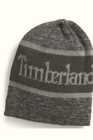 Three tonnes of gray Timberland beanie with a big script
