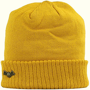 Casual yellow Von Dutch beanie