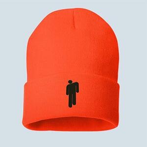 Neon-orange original Billie Eilish blohsh beanie