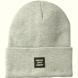 Casual broad cuff Herschel Elmer beanie with black label