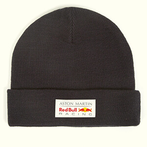 Classic Red Bull Racing beanie with a white patch